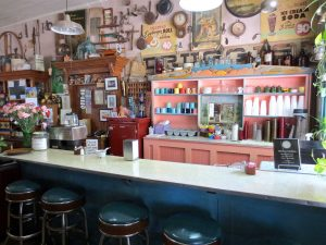 Interview view of Hillsboro's General Store Cafe with lunch counter.