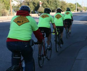 Cyclists participating in Visibility Ride
